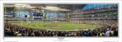 """First Pitch"" Milwaukee Brewers at Miller Park Panoramic Framed Poster"