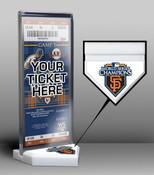 2010 World Series Champions Ticket Display Stand - San Francisco