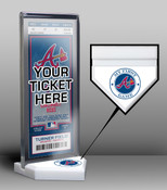 Atlanta Braves My First Game Ticket Display Stand