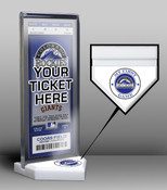 Colorado Rockies My First Game Ticket Display Stand