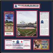 2010 Target Field Twins Inaugural Game Expanded Ticket Frame