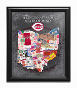 Cincinnati Reds State of Mind Framed Print
