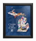Detroit Tigers State of Mind Framed Print