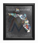 Miami Marlins State of Mind Framed Print
