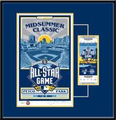2016 MLB All-Star Game Sports Propaganda Serigraph Ticket Frame - San Diego Padres