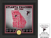 "Atlanta Falcons ""State"" Bronze Coin Photo Mint"