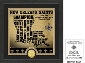 "New Orleans Saints ""State"" Bronze Coin Photo Mint"