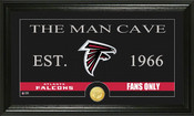 "Atlanta Falcons ""Man Cave"" Bronze Coin Panoramic Photo Mint"