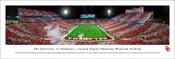 """Oklahoma Sooners """"Night Game"""" at Memorial Stadium Panorama Poster"""