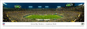 Green Bay Packers at Lambeau Field Panoramic Poster