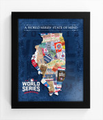2016 World Series State of Mind Framed Print - Chicago Cubs