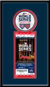 2016 World Series Single Ticket Frame - Cleveland Indians