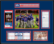 2016 World Series Champions Ticket Frame - Chicago Cubs