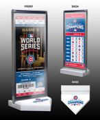 2016 World Series Champions Commemorative Ticket Display - Chicago Cubs