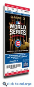 2016 World Series Canvas Mega Ticket - Game 3 - Chicago Cubs