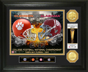 2017 College Football National Championship Game Gold Coin Photo Mint