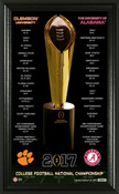 """2017 College Football National Championship Game """"Trophy"""" Framed Photo"""