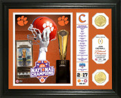 Clemson Tigers Football National Champions Bronze Coing Photo Mint