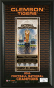 Clemson Tigers 2016 Football National Champions Ticket Pano