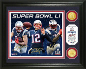 New England Patriots 2016 AFC Champions Bronze Coin Photo Mint
