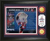 New England Patriots AFC Champs Super Bowl 51 Minted Coin Photo Mint