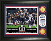 "Super Bowl 51 Champions New England Patriots ""Celebration"" Bronze Coin Photo Mint"
