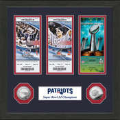 """New England Patriots """"Road to Super Bowl 51 Title"""" Ticket Collection"""