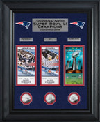 """New England Patriots """"Road to Super Bowl 51 Title"""" Deluxe Silver Coin Ticket Collection"""