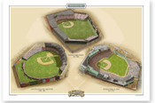 Boston American League Ballparks Print