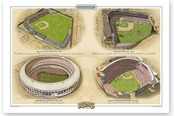 Cincinnati Reds Ballparks Print