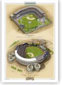 Kansas City Royals Ballparks Print