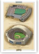 Toronto Blue Jays Ballparks Print