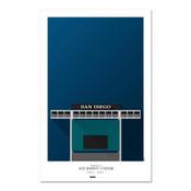 San Diego Padres - Jack Murphy Stadium Art Poster