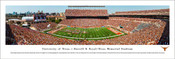 Texas Longhorns at Royal Memorial Stadium Panorama Poster