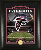 "Atlanta Falcons ""Stadium"" Bronze Coin Photo Mint"