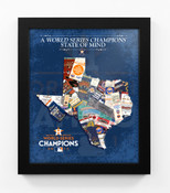 2017 World Series Champions State of Mind Framed Print - Houston Astros