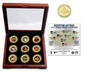 Houston Astros 2017 World Series Champions 9 Coin Set