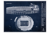 Tennessee Volunteers - Neyland Stadium Blueprint Poster