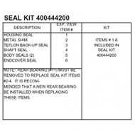 White 400 Series HD Seal Kit 400444250