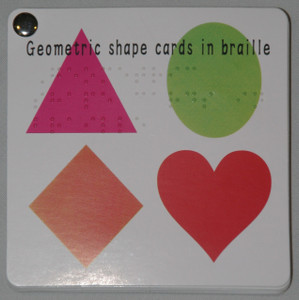 Geometric Shape Cards with Braille