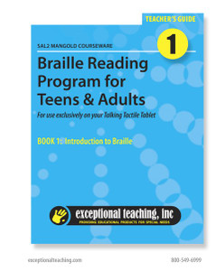 SAL2 Mangold Braille Reading Program for Teens & Adults (EBAE)