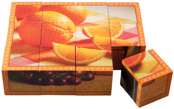 Real Photo Wooden Cube Puzzles