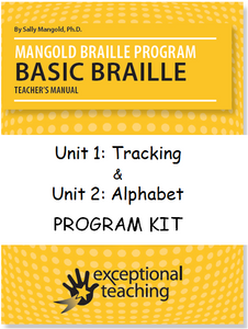 Mangold Basic Braille Program Kit Units 1 & 2