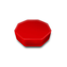 """Red Octagon Measures: 10"""" x 10"""" x 3"""""""