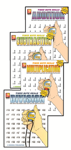 Timed Math Drills / Subtraction and Division Available
