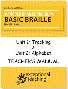 Mangold Basic Braille Program Teacher's Manual Units 1 & 2