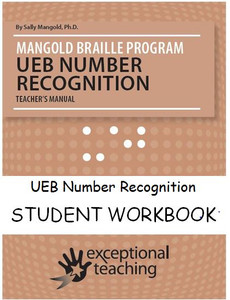 Mangold UEB Number Recognition Student Workbook
