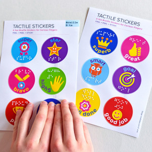 Braille Tactile Reward Stickers
