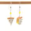 lemon meringue pie earrings by inedible jewelry