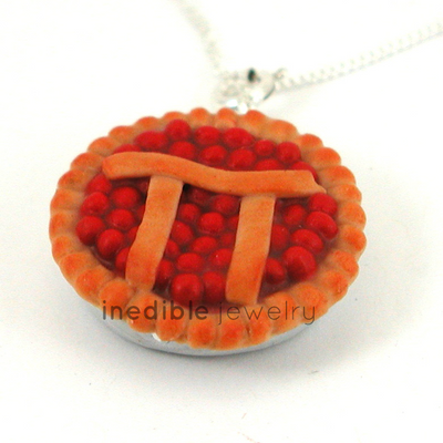 pi pie necklace by inedible jewelry
